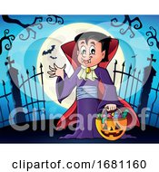 Poster, Art Print Of Trick Or Treating Vampire