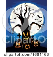 Creepy Tree With Jackolanterns