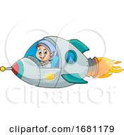 Astronaut In A Rocket by visekart