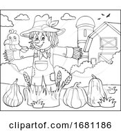 Crow On A Scarecrow