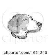 Poster, Art Print Of Boglen Terrier Dog Breed Cartoon Retro Drawing