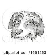 Bernese Mountain Dog Dog Breed Cartoon Retro Drawing