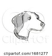 Beagle Dog Breed Cartoon Retro Drawing
