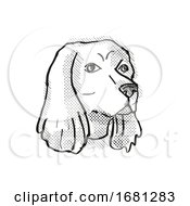 Cocker Spaniel Dog Breed Cartoon Retro Drawing
