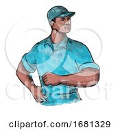 Poster, Art Print Of Union Worker Watercolor Painting