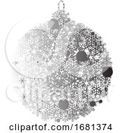 10/06/2019 - Silver Christmas Bauble Ornament