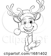 Christmas Santas Reindeer Cartoon Character