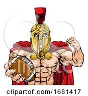 10/04/2019 - Spartan Trojan American Football Sports Mascot