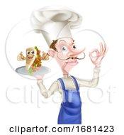 Poster, Art Print Of Cartoon Kebab Chef