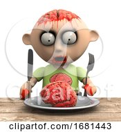 Poster, Art Print Of 3d Zombie Snack