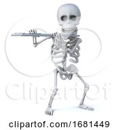 3d Skeleton Plays The Flute