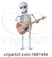 3d Skeleton Plays Guitar