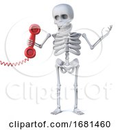 3d Skeleton Answers The Red Phone