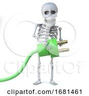 3d Skeleton Uses Green Energy