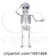 3d Skeleton Is Shocked