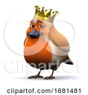 Poster, Art Print Of 3d King Robin Red Breast