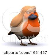 Poster, Art Print Of 3d Cheeky Robin