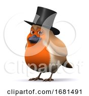Poster, Art Print Of 3d Lord Robin Red Breast