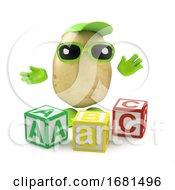 3d Potato Learns The Alphabet