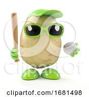 3d Potato Plays Baseball