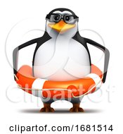 Poster, Art Print Of 3d Penguin Student Rescue