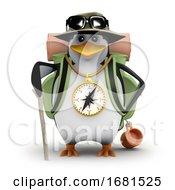 3d Penguin Goes Hiking