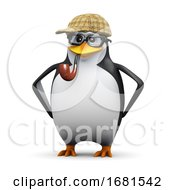 Poster, Art Print Of 3d Sherlock Penguin