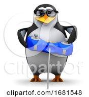 Poster, Art Print Of 3d Penguin Plays Videogames