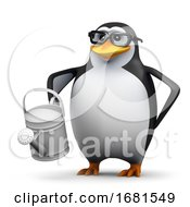 3d Penguin Waters The Garden by Steve Young