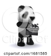 Poster, Art Print Of 3d Baby Panda Bear Is Making A Movie