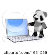 Poster, Art Print Of 3d Laptop Panda