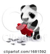 Poster, Art Print Of 3d Panda Puzzle