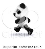 Poster, Art Print Of 3d Panda Runs
