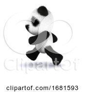 3d Panda Runs