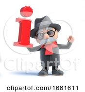 Poster, Art Print Of 3d Old Man Has Information
