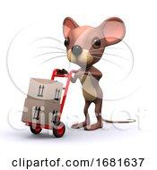 3d Mouse Delivers Boxes