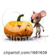 3d Halloween Pumpkin Mouse