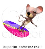 Poster, Art Print Of 3d Surfing Mouse