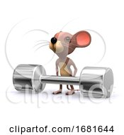 3d Weightlifter Mouse