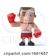 3d Boxer Waves Hello