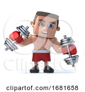 3d Boxer Works Outs With Some Weights