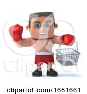 3d Boxer Goes Shopping
