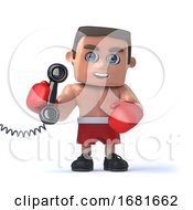 3d Boxer Answer The Phone