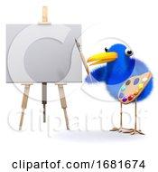 Poster, Art Print Of 3d Bluebird Is An Artist