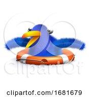Poster, Art Print Of 3d Blue Bird Rescue