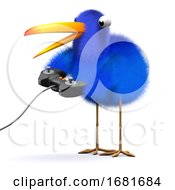 3d Bluebird Plays A Video Game by Steve Young
