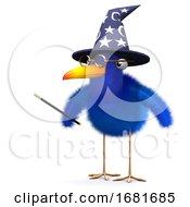 Poster, Art Print Of 3d Bluebird Magician