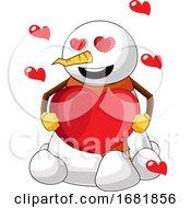 Poster, Art Print Of Snowman In Love