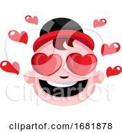 Poster, Art Print Of Cute Male Teen Is So In Love