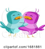 Poster, Art Print Of Blue And Purple Bird In Love